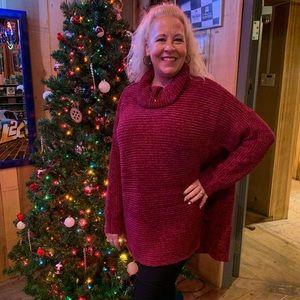 Brand new PLUS size Wine color Chenille sweaters